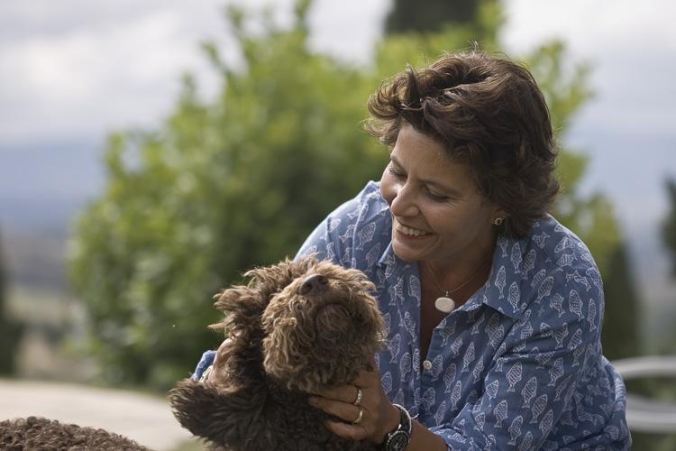 Laura con su perro