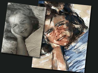Acuarela de un Retrato