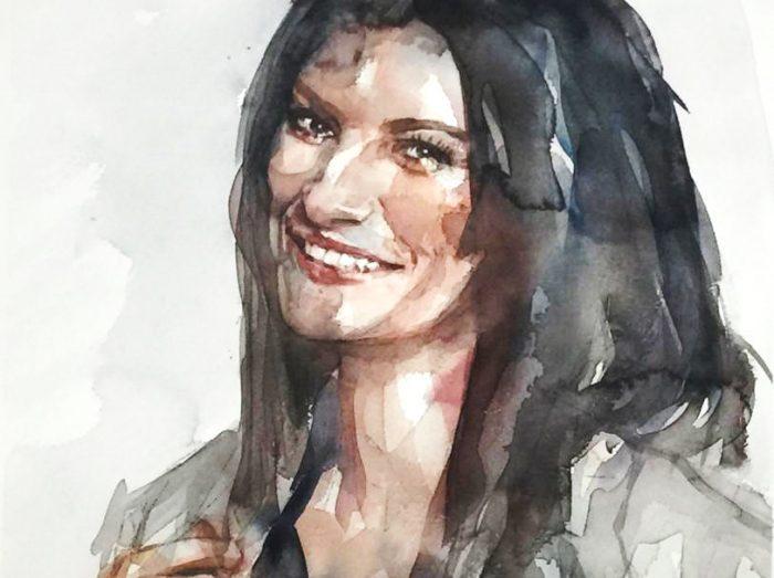Acuarela de Laura Pausini