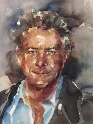 Acuarela de Dustin Hoffman