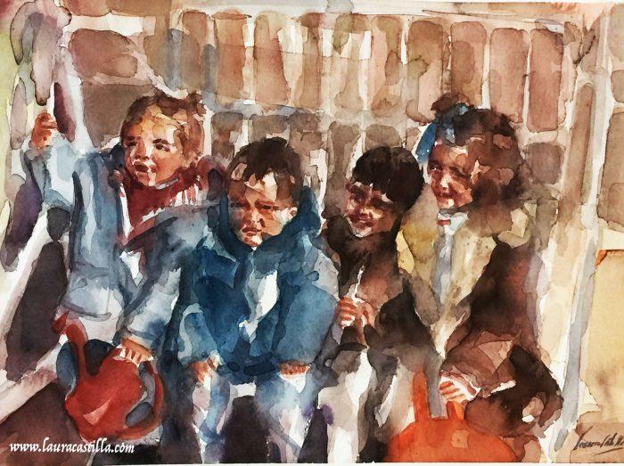 Grupo de 4 niños