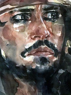 Retrato en acuarela de Jack Sparrow