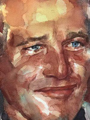 Acuarela de Paul Newman