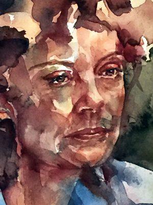 Retrato en acuarela de Susan Sarandon